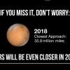 2018年の火星大接近って2016年の大接近の時とどれぐらい違うの?
